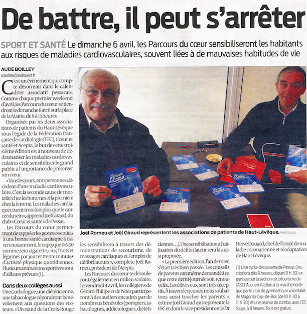 Sud Ouest 22 mars 2014